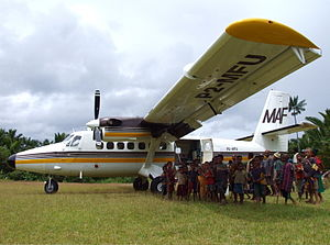 De-Havilland DHC6-300 P2-MFU of Mission Aviati...