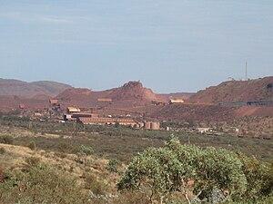 English: The Mount Whaleback mine at Newman, W...