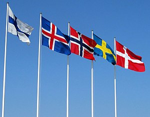English: Flags of the Nordic countries - from ...