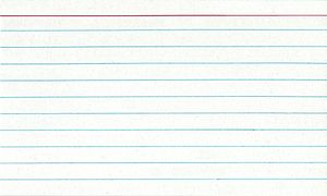 Scanned image of standard 3x5 notecard / index...