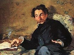 Retrato de Stéphane Mallarmé pintado por Édouard Manet.