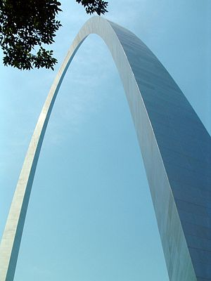 The St. Louis Arch, in St. Louis, Missouri