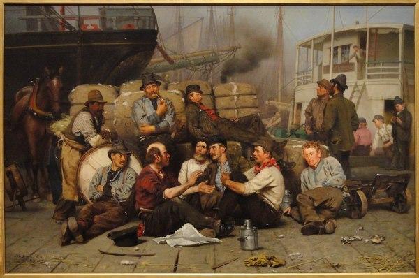 File Longshoremen' Noon John George Brown 1879