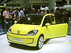 Volkswagen e-up! concept car as shown on the I...