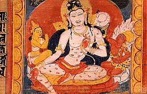 English: Painting of Avalokitesvara Bodhisattv...
