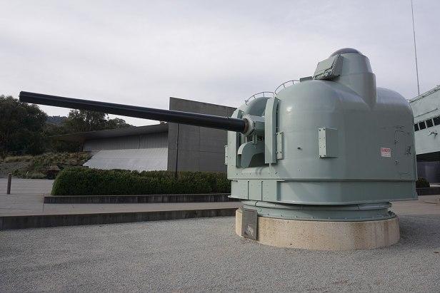 Australian War Memorial - Joy of Museums - HMAS Brisbane (D 41) Gun Mount 2