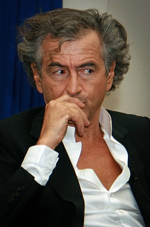 Bernard-Henri Lévy at Tel Aviv University. Pho...