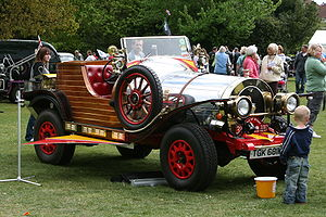 The car from the movie Chitty Chitty Bang Bang...