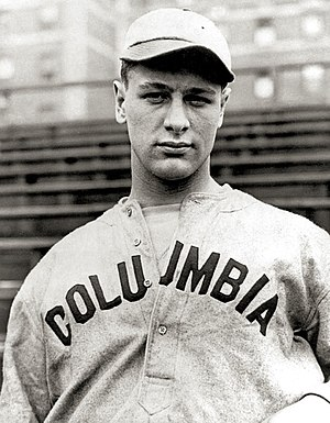 Lou Gehrig in Columbia uniform, 1921