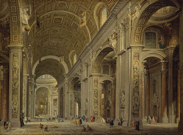 https://i0.wp.com/upload.wikimedia.org/wikipedia/commons/thumb/2/2f/Giovanni_Paolo_Pannini_-_Interior_of_St_Peter%27s_in_Rome_-_WGA16972.jpg/640px-Giovanni_Paolo_Pannini_-_Interior_of_St_Peter%27s_in_Rome_-_WGA16972.jpg