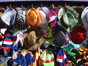 English: Hats...