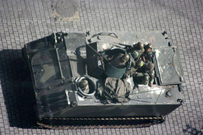 Lebanese Tank Beirut Lebanon Unrest 5-9-08
