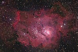 English: M8 Lagoon Nebula in Sagittarius