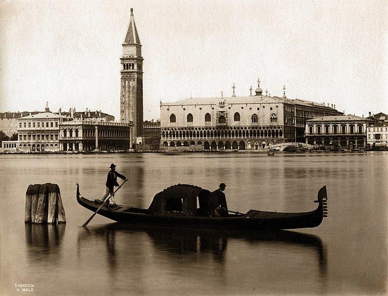 Pałac Dożów na starej fotografii, Wenecja