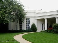 The Exterior of the Oval Office, as viewed fro...