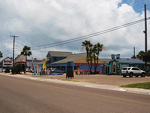 English: Tourist shops at Port Aransas, Texas.