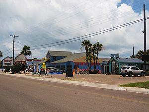 English: Tourist shops at Port Aransas, Texas.