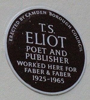 TS Eliot plaque SOAS London
