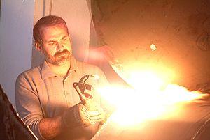 Carlos Ciriza en el taller