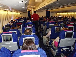 Interior of a Boeing 747-400