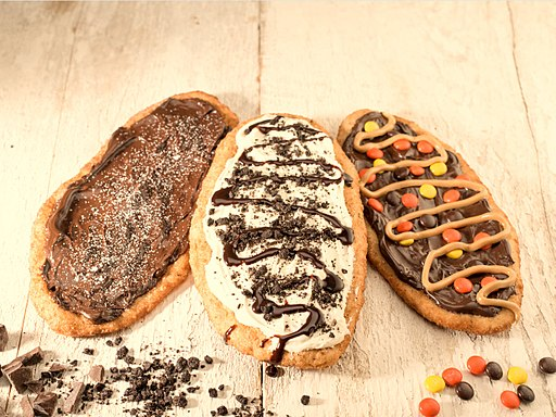 Three BeaverTails pastry flavours
