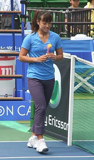 English: Japanese Tennis player Ayumi Morita d...