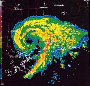 Radar image of Tropical Storm Allison in June ...