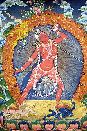 English: Photograph of a Vajrayogini painting ...