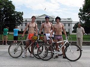 English: World Naked Bike Ride participants at...