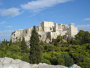 English: The Acropolis of Athens as seen from ...