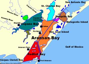 Map of Aransas Bay