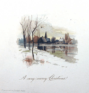 Christmas card by Louis Prang