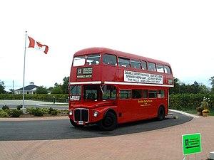 Double decker bus at Inniskillin vineyard in N...