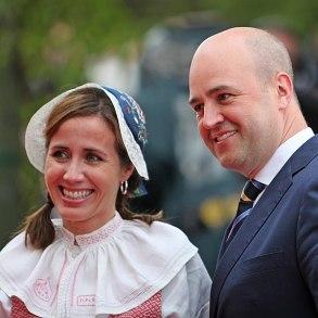 Fil:Filippa Reinfeldt och Fredrik Reinfeldt under nationaldagsfirande vid Skansen 2009.jpg