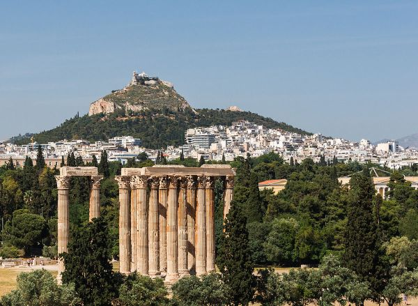 Ancient Greece Temple of Olympian Zeus Athens