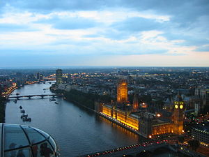 House of Commons from London Eye
