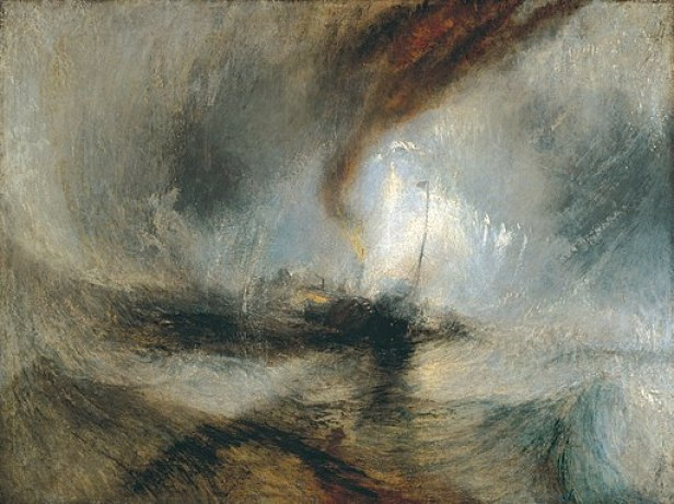 """""""Snow Storm: Steam-Boat off a Harbour's Mouth"""" by J.M.W. Turner"""