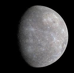 メッセンジャーが2008年(平成20年)に撮影した水星