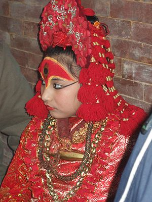 "Kumari Devi (""Living goddess"") of Ka..."