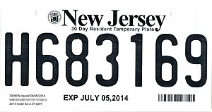 Vehicle registration plates of the United States for 2014