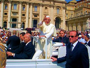 Pope Benedict XVI in St. Peter's Square, Rome ...