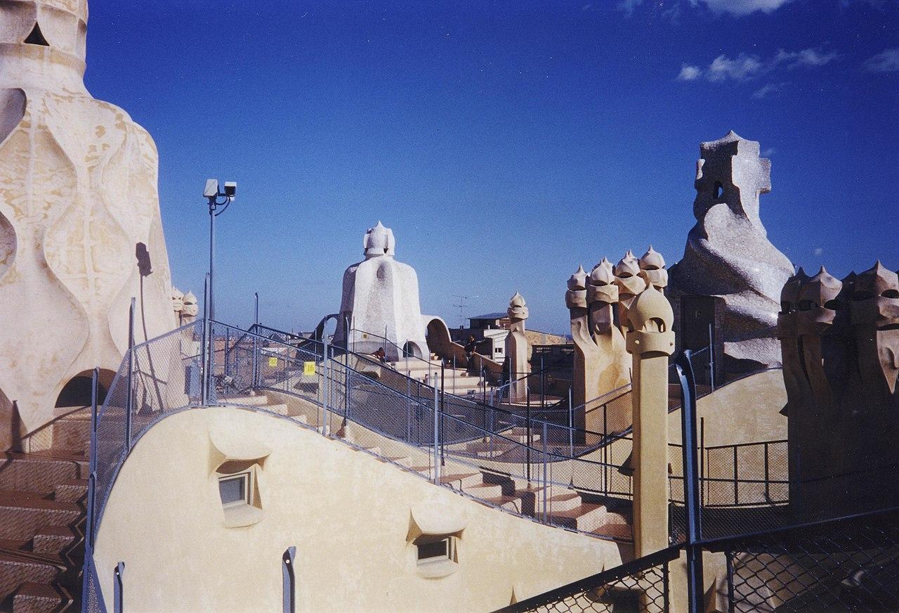 FileRoof of Casa Mila Barcelonajpg  Wikimedia Commons