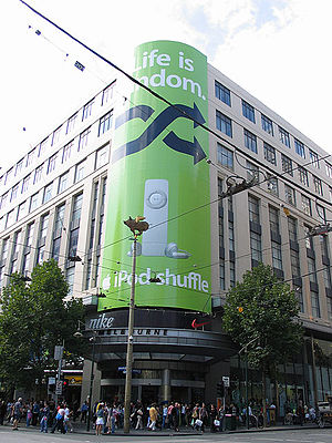 iPod shuffle advertising in Melbourne, Australia