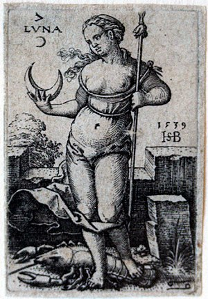 Beham, (Hans) Sebald (1500-1550): Luna, from T...