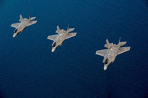 U.S. Air Force F-35A Lightning II aircraft assigned to the 58th Fighter Squadron, 33rd Fighter Wing fly in formation near Eglin Air Force Base, Fla., May 16, 2013 130516-F-XL333-841