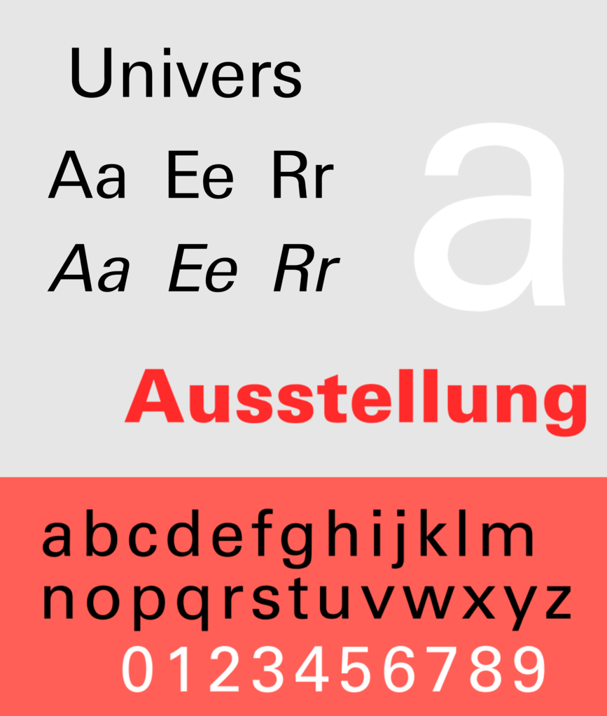 Univers, a neo-grotesque lineal typeface