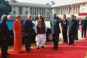 DELHI. With Indian Prime Minister Atal Bihari ...