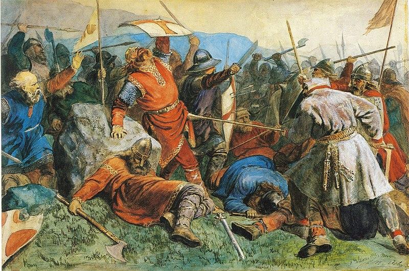 File:Arbo-Olav den helliges fall i slaget på Stiklestad.jpg