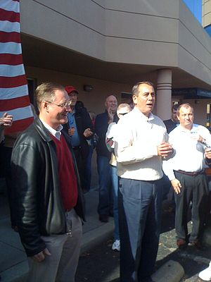 English: John Boehner campaigning for Congress...