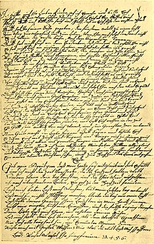 English: Page of a manuscript written by Penns...